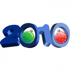 3D 2010 text vector image