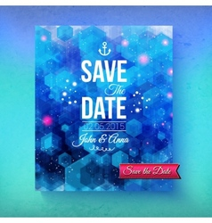 Nautical themed save the date template vector