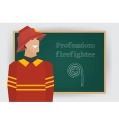 Occupation firefighter profession vector