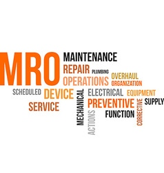 Word cloud mro vector