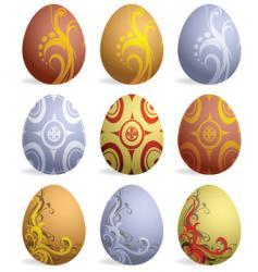 Easter eggs design vector image
