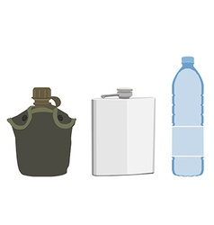 Water containers vector