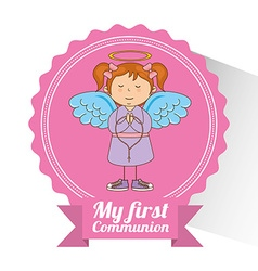 My first communion design vector