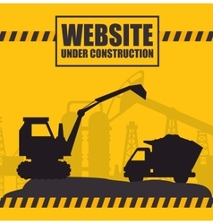 website under construction design vector image