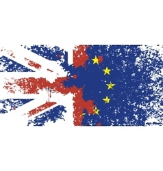 Britain and the european union vector