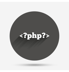 Php sign icon programming language symbol vector