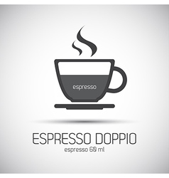 Cup of espresso doppio simple icon vector