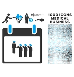 Army squad calendar day icon with 1000 medical vector