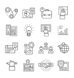 Assembly Line Icon Set vector image vector image