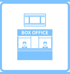 Box office icon vector