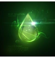 Collagen serum droplet vector