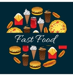 Fast food mednu decoration design vector