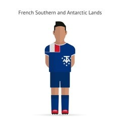 French southern and antarctic lands football vector