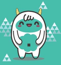 Friendly Yeti vector image