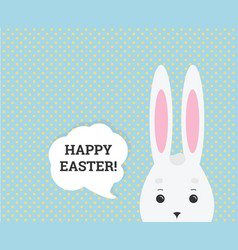 Happy easter greeting card web banner vector