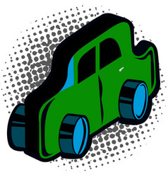 isolated comic toy vector image