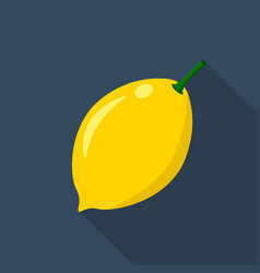 lemon cartoon flat icondark blue background vector image