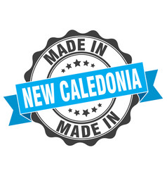 Made in new caledonia round seal vector