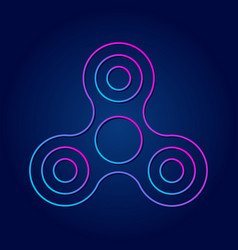 modern symbol hand spinner future sign vector image
