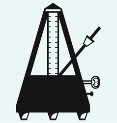 Musical metronome vector