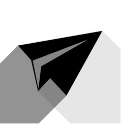 paper airplane sign black icon with two vector image