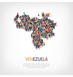 People map country venezuela vector
