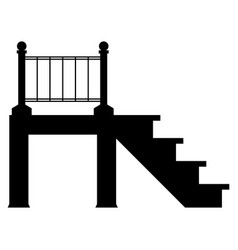 Porch the black color icon vector