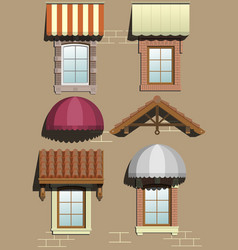 Set of different shelters vector