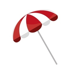 white and red beach umbrella graphic vector image