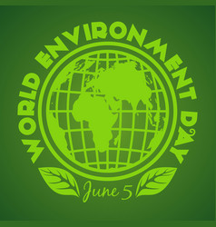 World environment day logo design june 5 vector