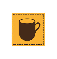 Yellow sticker cuppa icon vector