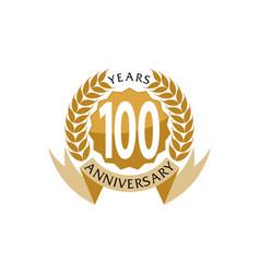 100 years ribbon anniversary vector