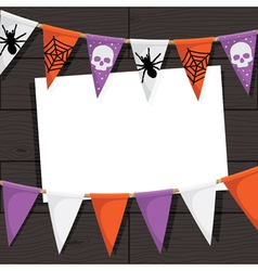 Halloween bunting decoration vector