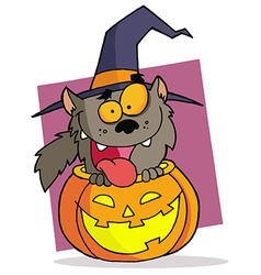 Cartoon character halloween werewolf vector