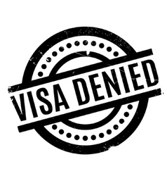 Visa denied rubber stamp vector