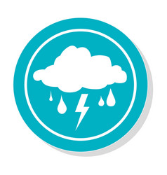 circular frame with silhouette rain storm weather vector image