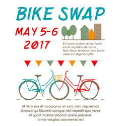 Bike swap poster vector