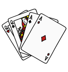 Two pair of poker cards vector