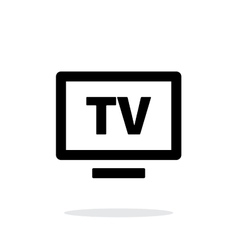 Flatscreen tv simple icon on white background vector