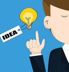 Businessman with light bulb idea concept vector image