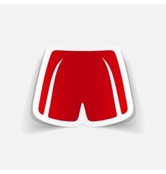 Realistic design element shorts vector