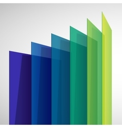 Infographics 3d perspective colorful abstract vector