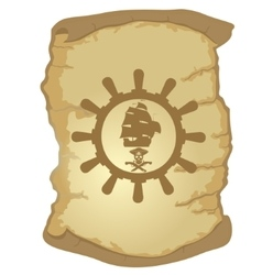 Parchment and the helm of a sailing ship-2 vector