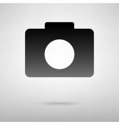 Digital camera black icon vector