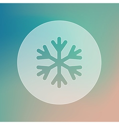 Snowflake snow transparent icon weather vector