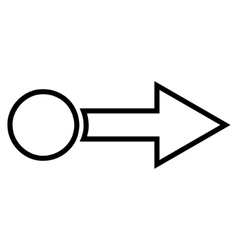 Pull arrow right outline icon vector