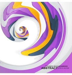 Abstract dynamic colorful rotating vector image vector image