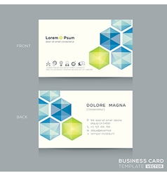 Abstract low poly business card design template vector image vector image