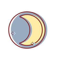 beauty moon natural satellite of the earth planet vector image vector image