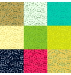 Big set of abstract doodle seamless patterns vector image vector image